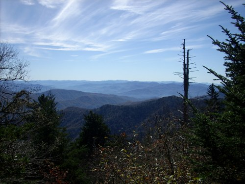 View of the Smoky Mountains from the trail