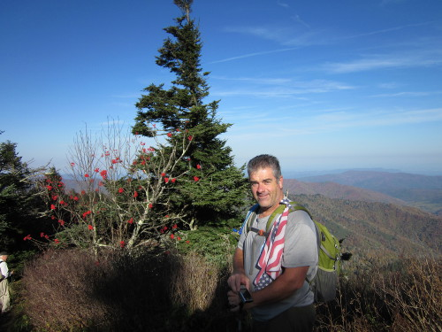 Craig on the AT near Clingman's Dome