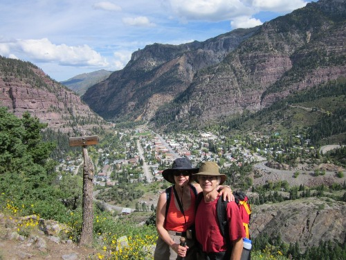 Kathy and Steve at Ouray overlook