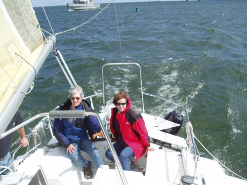A blustery test sail on the Chesapeake Bay
